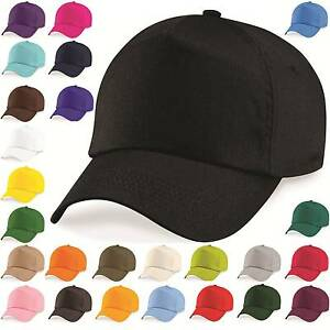 Baseball-Cap-Adjustable-Classic-New-Cotton-Summer-Sun-5-Panel-Mens-Ladies-Hat