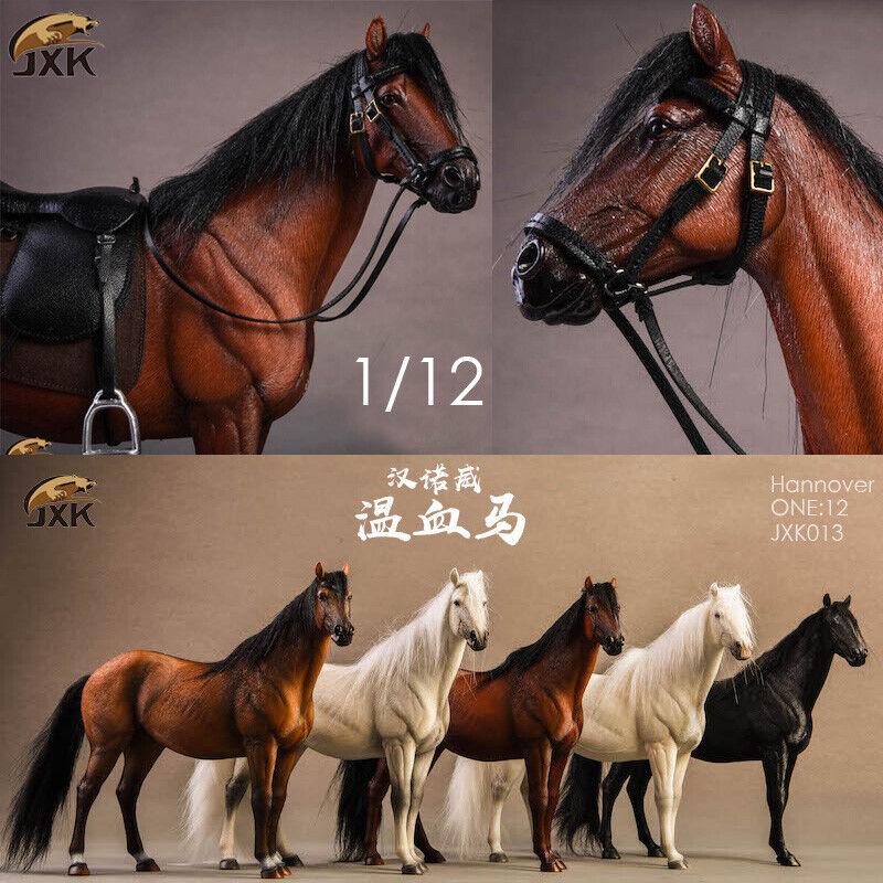 Jxk 1 12 JXK013 Hannover Estatua Figura de caballo Stablemates Anime Palma Con Arnés