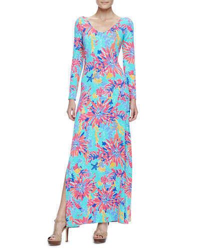 Dress Pulitzer Maxi Xs Nuovo Lauren e Lilly Trippin Metallic placca gOwF5U81qx