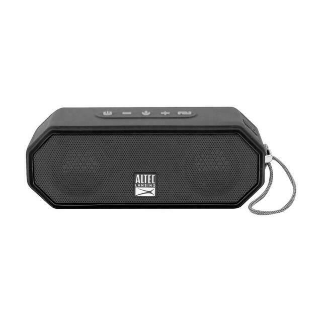 Altec Lansing IMW10 Jacket H10 10 Rugged Portable Waterproof Bluetooth  Speaker - Blackl