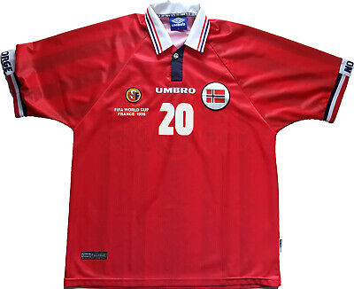 shirt Solskjaer Norway Umbro World Cup France 1998 jersey player issue *NEW* XL