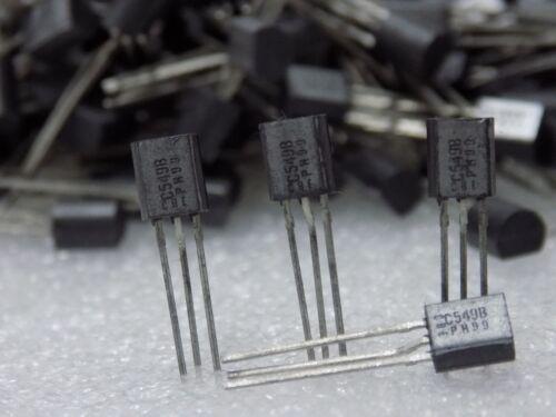 25 pcs BC549B new Philips Small Signal Low noise Transistors NF 2..3 dB