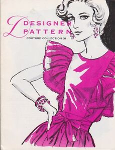 Designer Pattern Couture Collection 31 Vintage Women's Pattern Booklet