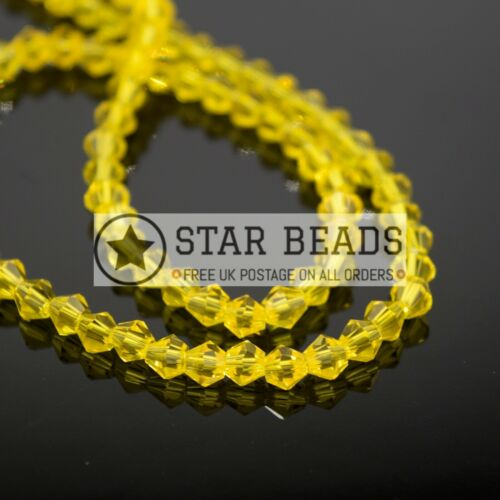 PICK COLOUR FACETED BICONE CRYSTAL GLASS BEADS 4MM,6MM,8MM