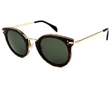 1a4d43756799 Celine CL 41373 s Ant 85 Dark Havana Gold Frame Grey Green Lens Sunglasses