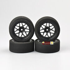 4X Unique Wheel Rims& Foam Tires 23002 For RC 1:10 Model Racing on-Road Car