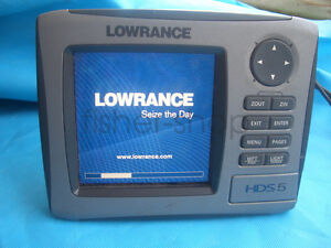Lowrance-HDS-5-Gen1-GPS-and-Fishfinder-Only-HDS5-head-unit-amp-Sun-cover