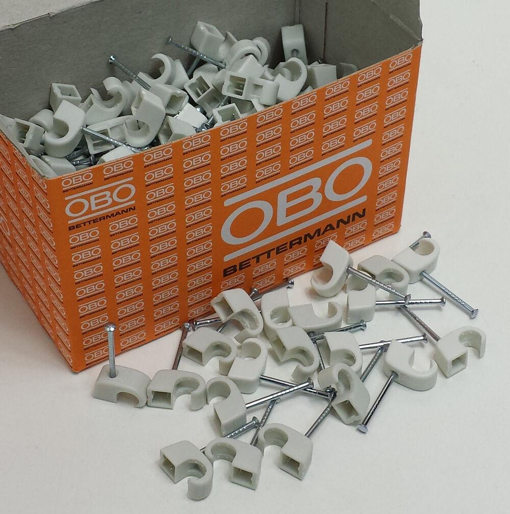 OBO Bettermann Nagelschellen OBO Haft Clip ISO Nagel Clip 4-7 7-12 10-14 14-17mm  | Langfristiger Ruf