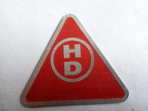 Scudo-Piastra-Rosso-triangolare-HD-auto-d-039-EPOCA-GIORNO-PLACCHETTA-TARGA-S9