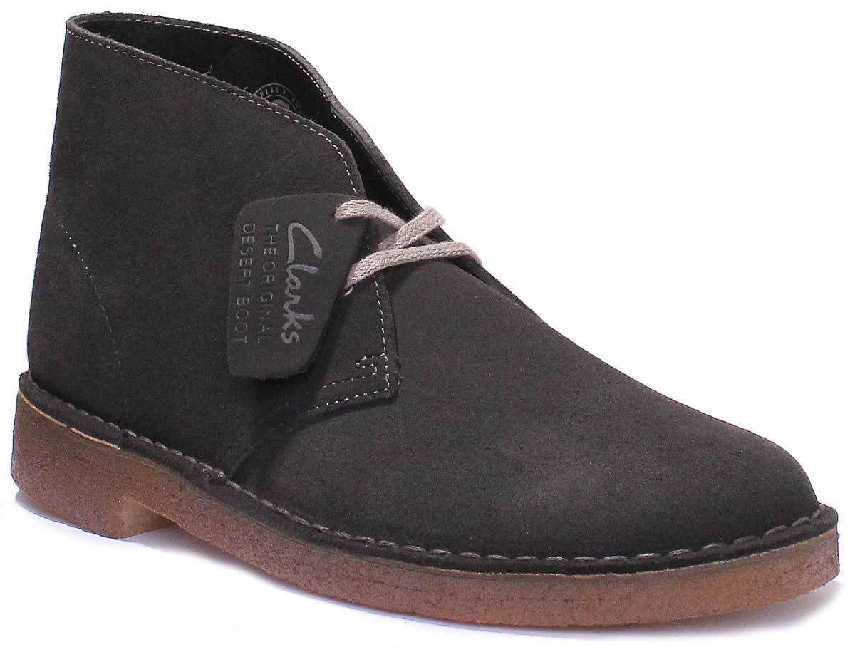 Clarks Original Beeswax Mens Black Leather Matt Desert Boots UK Size 6 - 12