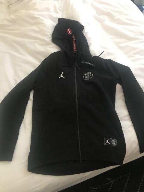 29125eb5800 Nike Air Jordan PSG Wings Full-zip Hoodie Size Large Black Paris ...