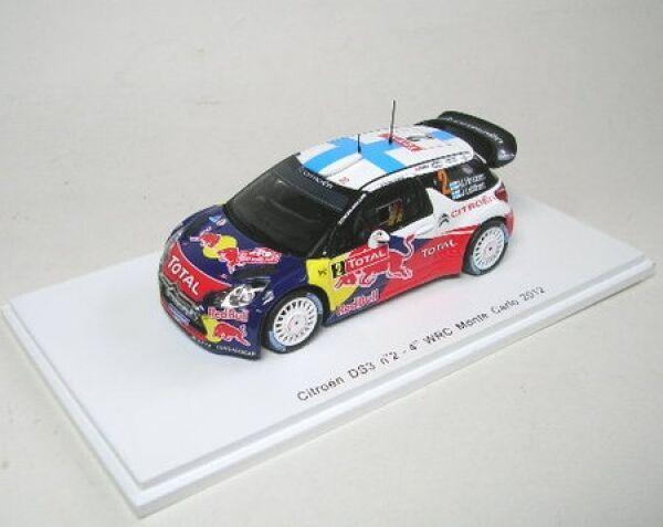 Citroen DS3 wrc no. 2 4th rally monte carlo 2012