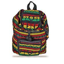 "Reggae Rasta Surfer Hawaii Backpack Sack Tote Bag Hippie Irie Jamaica Marley 16"""
