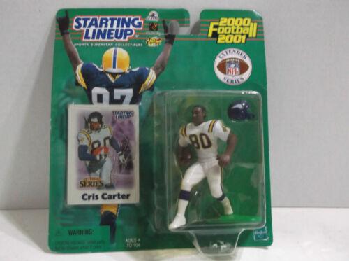 2000 Chris Carter Starting lineup Vikings HOF new on blister