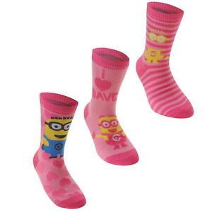 Officiel-meprisable-me-chaussettes-3-pack-femmes-uk-4-8-minion-D333-33