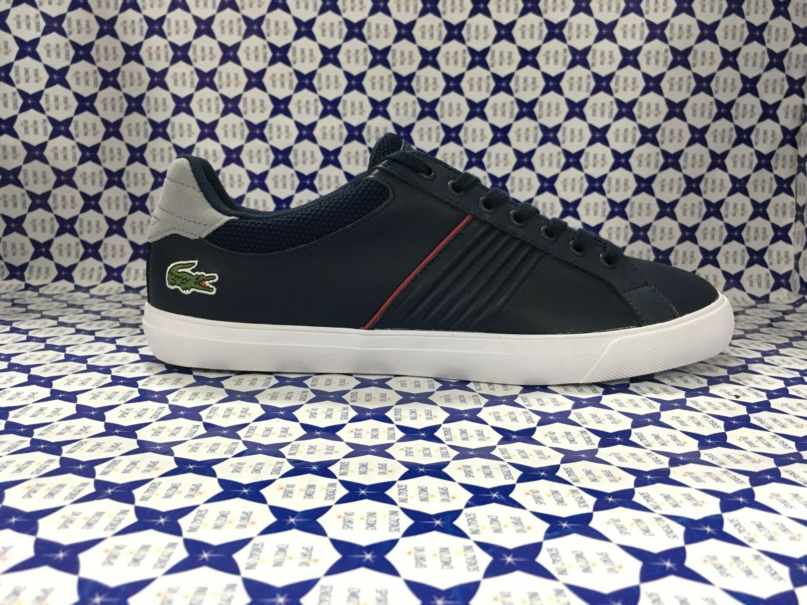 8a877a32e367e shoes LACOSTE men Sneakers 117 - blue - CAM1031 Fairlead Navy ...