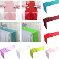 Fashion Satin Table Runner Cloth Wedding Reception Festive Party Banquet Decor