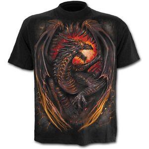 Spiral-Direct-DRAGON-FURNACE-T-shirt-Biker-Tattoo-Wild-Fire-Plus-Top-Tee-3XL-4XL