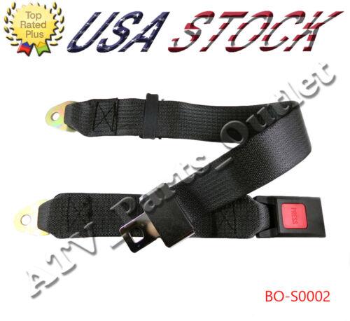 2 point Seat Saftey Belt Harness Kit Go Kart UTV Buggie Single Double Seat belt