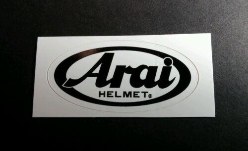 ARAI HELMET WHITE B/&W OVAL WHITE CAR CASE BOARD RACING SMALL STICKER