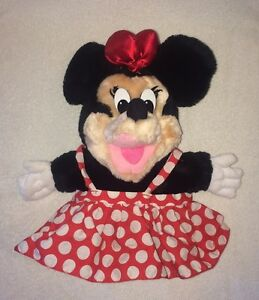89ec9a14cd7 Minnie Mouse Plush Toy Hand Puppet Applause Red Bow Polka Dot Dress ...