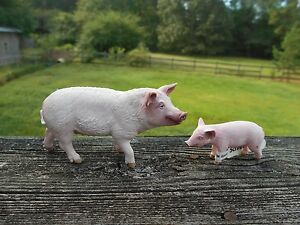 PIG-amp-PIGLET-by-Schleich-toy-13782-13783-NEW-2015-FARM-LIFE