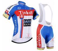 Jersey Cycling Bib & Jersey Saxo Bank Tinkoff Pant Short Sleeve Quick-dry