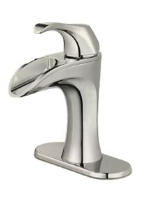 Pfister Brea 4 in. Centerset Single-Handle Waterfall Bathroom Faucet Chrome