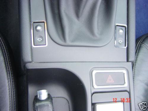 PG panneaux Commutateur Efh INOX CHROME BMW z3 2 St.