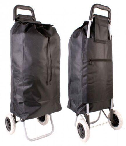 Shopping Trolley Noir Léger résistante en Microfibre