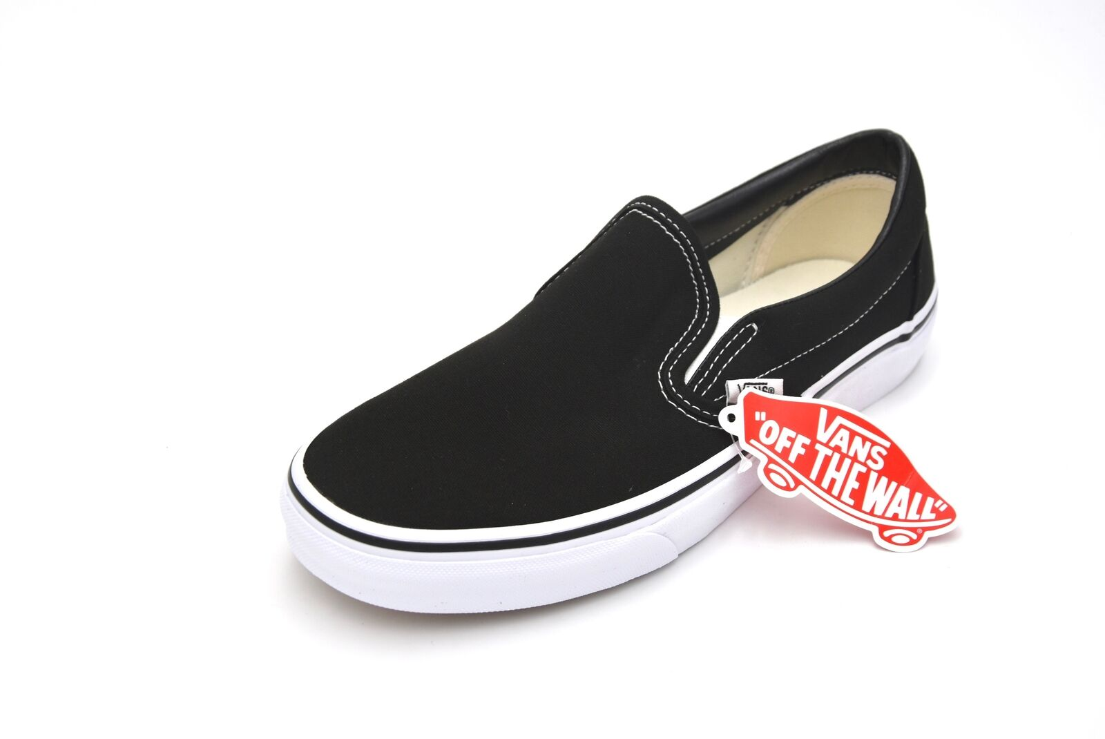 VANS MAN FREE TIME CASUAL SNEAKER SHOES CODE VN000EYEBLK CLASSIC SLIP ON