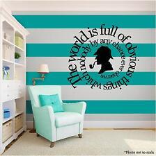 Sherlock Holmes Vinyl Wall Art quote Home Family Decor Decal Word Phrase  BLACK