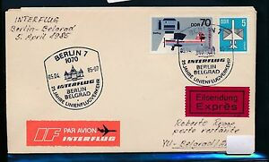 97500) Rda Coursier Lettre If So-lp Berlin-belgrade 5.4.85-afficher Le Titre D'origine