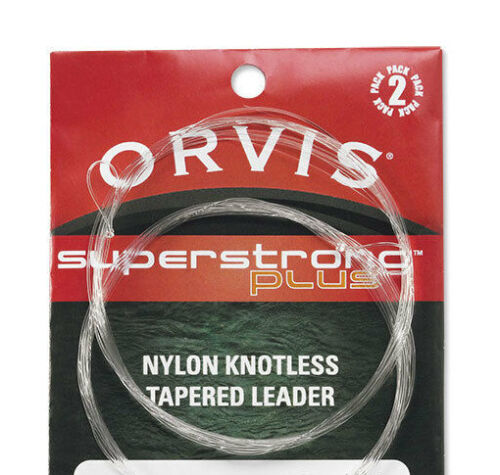 Orvis Superstrong Plus Trout leaders  2 pack 9 foot 3X 9.8 lb 2 ea leaders