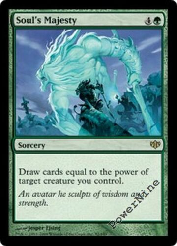 Green Conflux Mtg Magic Rare 4x x4 4 PLAYED Soul/'s Majesty
