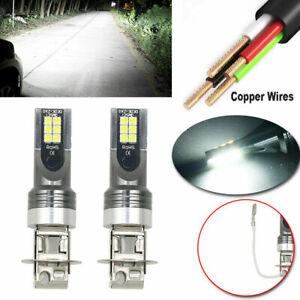 2x-H3-Car-50W-14000LM-LED-Headlight-Kits-Fog-Light-Bulbs-Driving-DRL-Lamp-6000K