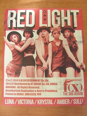 f(x) - Red Light (Ver. B) [OFFICIAL] POSTER K-POP *NEW* FX