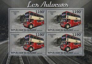 1954 Bristol Ld (lodekka) Double Decker British London Bus Timbre Feuille (2012)-afficher Le Titre D'origine Des Friandises AiméEs De Tous