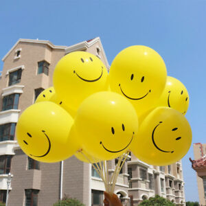 Cute-Smile-Face-Rubber-Yellow-Helium-Balloons-Wedding-Birthday-Party-Hom-Decor