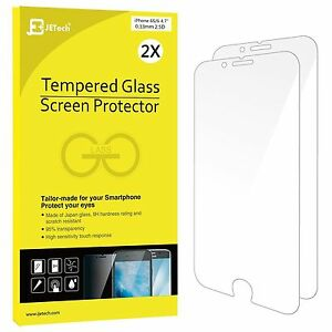 2-Pack-iPhone-6-6s-Screen-Protector-Premium-Tempered-Glass-Lifetime-Warranty