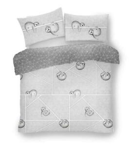 SLOTH-COMPLETE-BEDDING-SET-Duvet-Quilt-Cover-Pillow-Cases-Fitted-Sheet-4-PCs