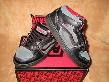 NEW VANS EDGEMONT WEATHER SHOE BLACK/URBAN/BLACK/RED PLAID INSIDE YOUTH 1.5Y