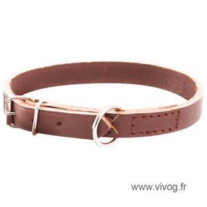 Collier-marron-pour-chien-en-cuir-en-huile-non-double-larg-16mm-Long-40cm