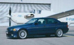 Alpina-Deko-Set-Nr-4-fuer-den-Frontspoiler-GOLD-BMW-3er-E36-Typ-164