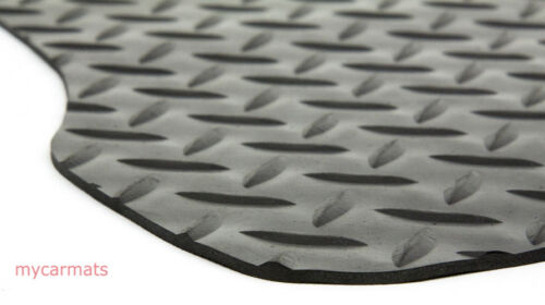 Fiat 500 2008 To Present New Checker Rubber Fully Tailored Car Boot Mat Liner
