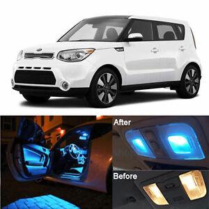 Ice Blue Led Bulbs Lamp Interior Kit License Light Led For Kia Soul 2014 2016 Ebay