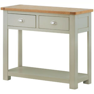 Image Is Loading Padstow Grey Painted Console Table Solid Wood Painted