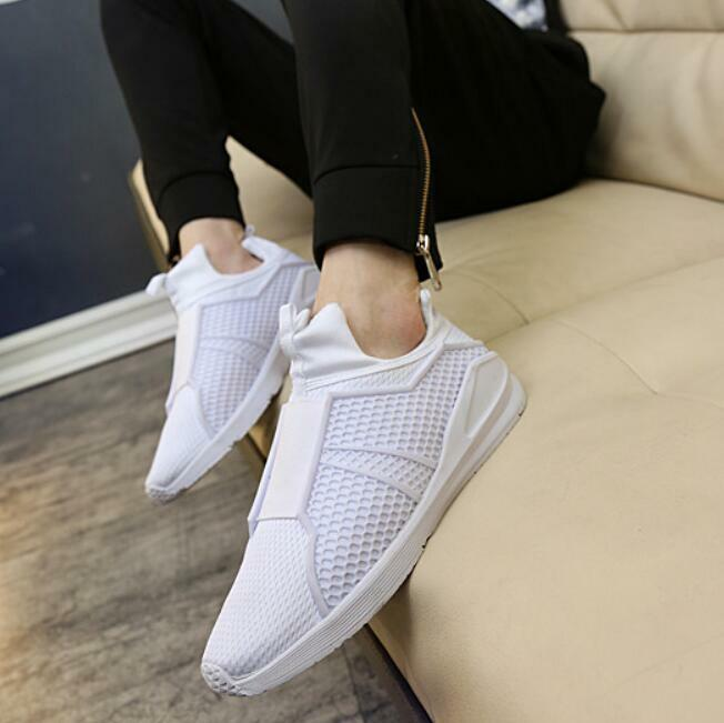 Mens High Top Sneakers Slip On Breathable Running Fashion Shoes Athletic Sports