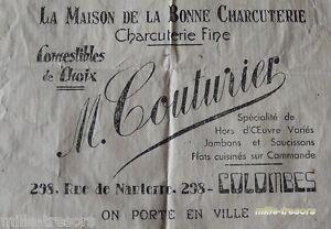 Ancien SACHET : La MAISON de la BONNE CHARCUTERIE - Charcuterie fine Comestibles