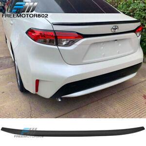 IKON Style Rear Trunk Boot Lid Wing Gloss Black IKON MOTORSPORTS Trunk Spoiler Compatible With 2020 Toyota Corolla Sedan